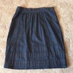 Soft Denim A Line Skirt